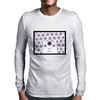 White Creature which is looking at you Mens Long Sleeve T-Shirt