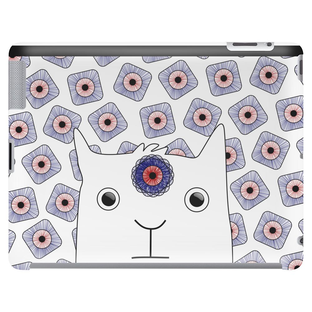 White Creature which is looking at you Tablet (horizontal)