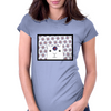 White Creature which is looking at you Womens Fitted T-Shirt