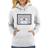 White Creature which is looking at you Womens Hoodie