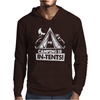 White Ink Camping Is In Tents Funny Mens Hoodie