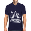 White Ink Camping Is In Tents Funny Mens Polo