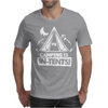 White Ink Camping Is In Tents Funny Mens T-Shirt