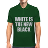 White is the new black Mens Polo