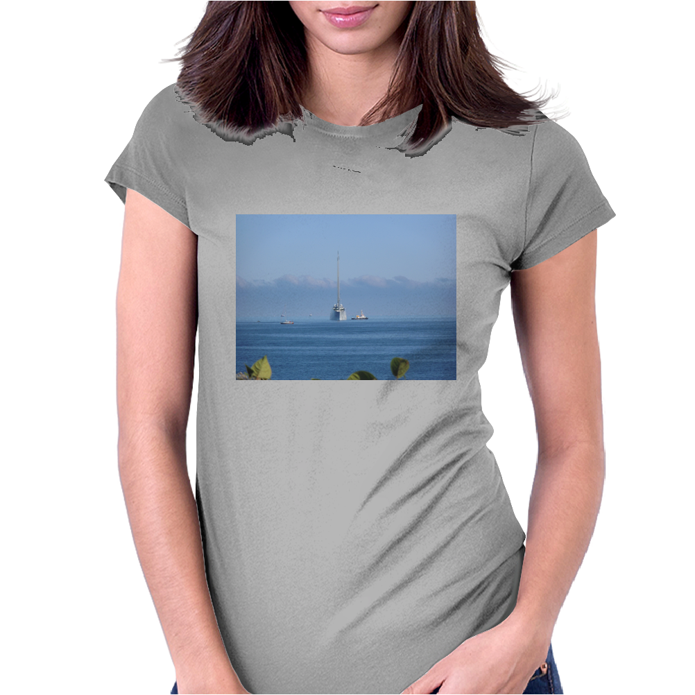 White Pearl, Yacht, Womens Fitted T-Shirt