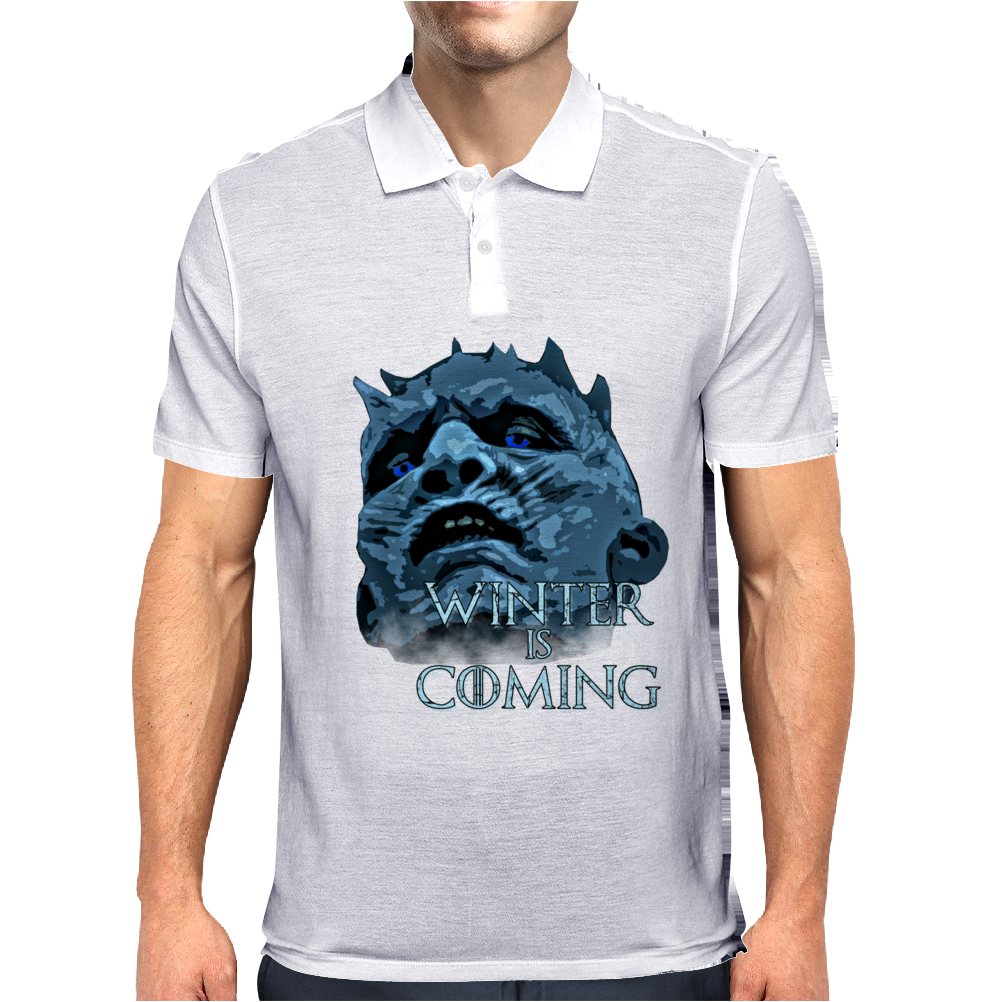 WHITE WALKERS ARE COMING ( GAME OF THRONES ) Mens Polo