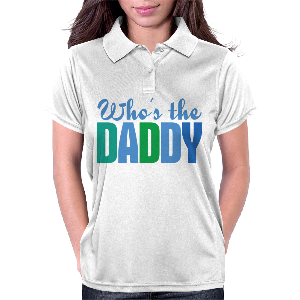 Who's The Daddy Christmas Womens Polo