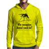 Why mosquitos doesn't suck fat? black Mens Hoodie