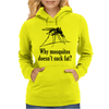 Why mosquitos doesn't suck fat? black Womens Hoodie