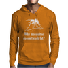 Why mosquitos doesn't suck fat? white Mens Hoodie