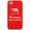 Why mosquitos doesn't suck fat? white Phone Case