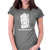 Wibbly Wobbly Timey Wimey Talk Whovian To Me Womens Fitted T-Shirt