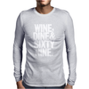 Wine Dine And 69 SixtyNine Funny Mens Long Sleeve T-Shirt
