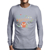 Winter garden pattern 001 Mens Long Sleeve T-Shirt