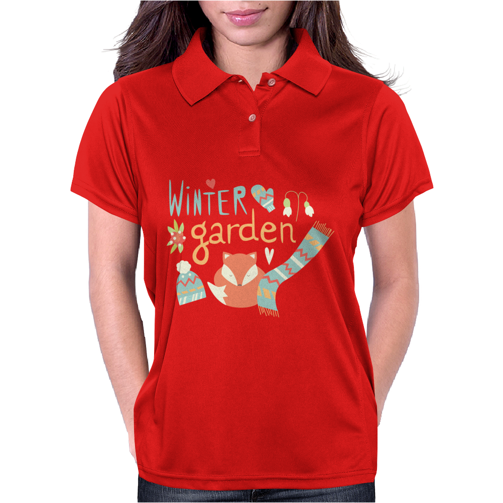 Winter garden pattern 001 Womens Polo