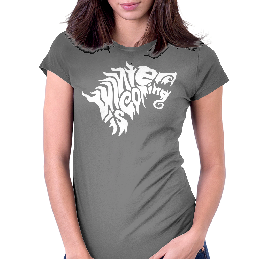 Winter is Coming Typography Womens Fitted T-Shirt