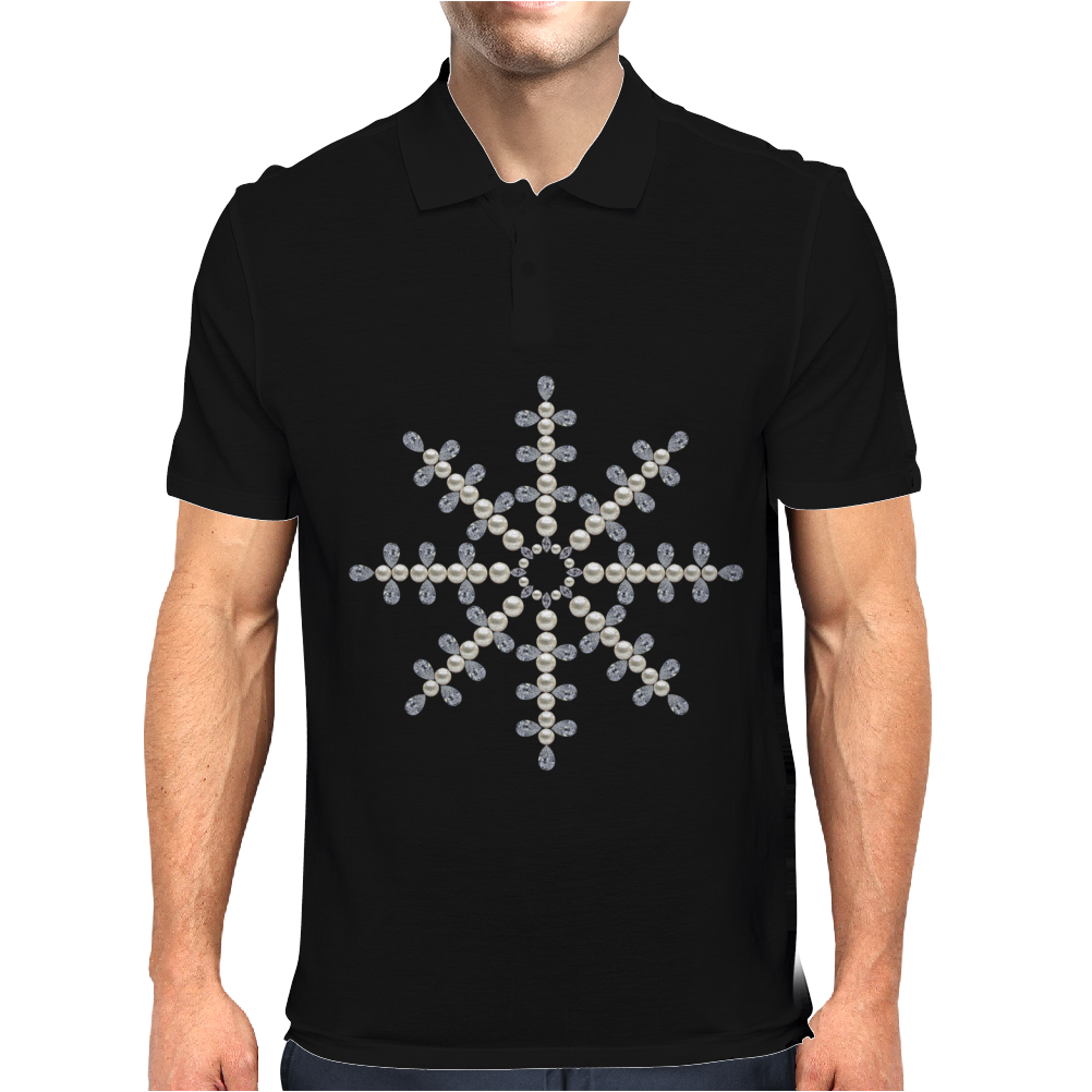 Winter Snowflake Mens Polo