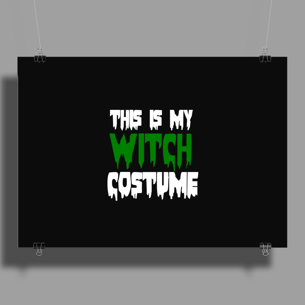 WITCH COSTUME Poster Print (Landscape)
