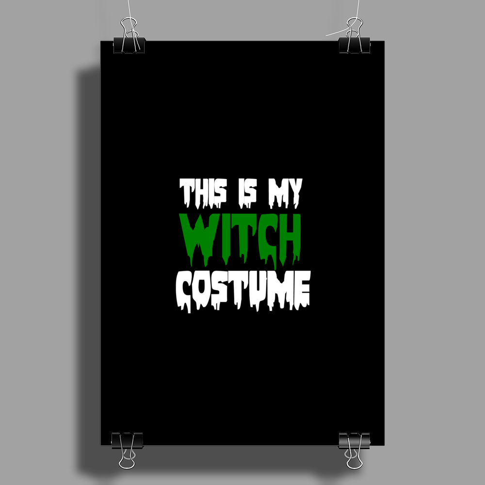 WITCH COSTUME Poster Print (Portrait)