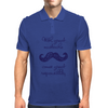 With Great Mustache Comes Great Responsibility Mens Polo