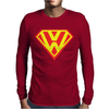with Superman VW Logo Mens Long Sleeve T-Shirt