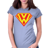 with Superman VW Logo Womens Fitted T-Shirt