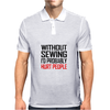 WITHOUT SEWING I'D PROBABLY HURT PEOPLE Mens Polo