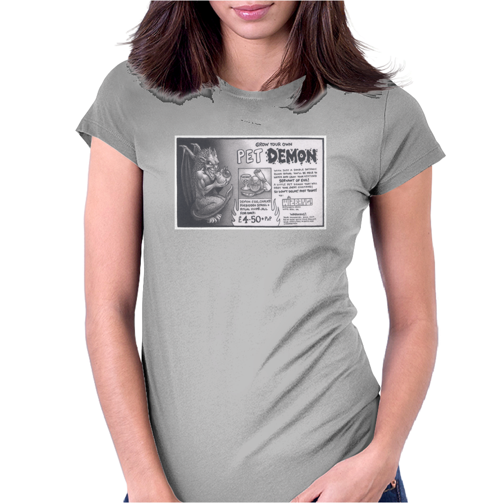 WIZBANG! - Pet Demon Womens Fitted T-Shirt
