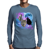 Wolves Mystical Night 2 Mens Long Sleeve T-Shirt