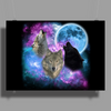 Wolves Mystical Night 2 Poster Print (Landscape)