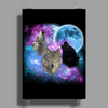 Wolves Mystical Night 2 Poster Print (Portrait)