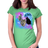 Wolves Mystical Night 2 Womens Fitted T-Shirt