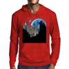 Wolves Twilight Blue Moon Mens Hoodie