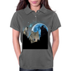 Wolves Twilight Blue Moon Womens Polo