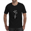 woman in black Mens T-Shirt