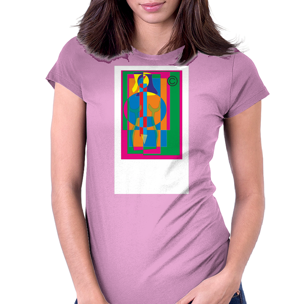 woman4 Womens Fitted T-Shirt