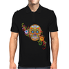 Women's Sugar Skull Purple Mens Polo
