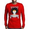Wonder Woman Superhero Print Mens Long Sleeve T-Shirt