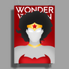 Wonder Woman Superhero Print Poster Print (Portrait)