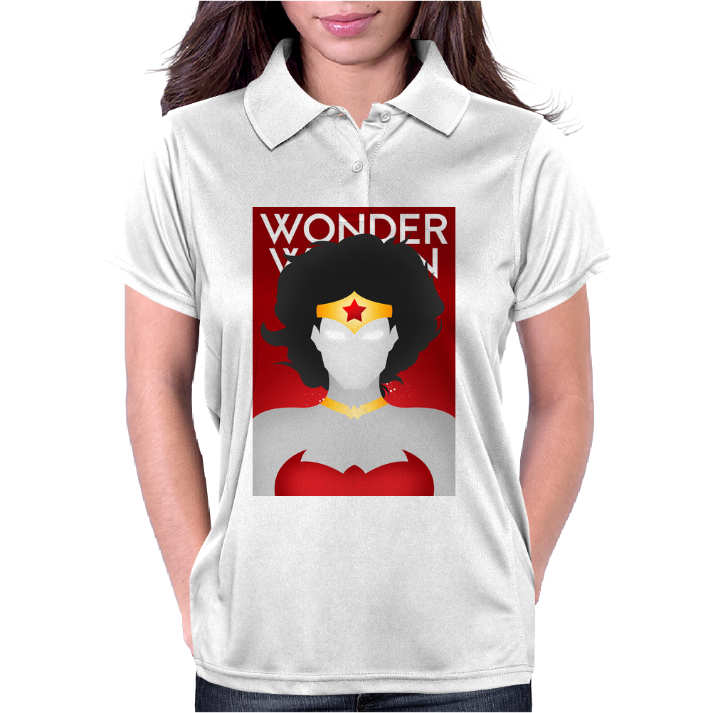 Wonder Woman Superhero Print Womens Polo