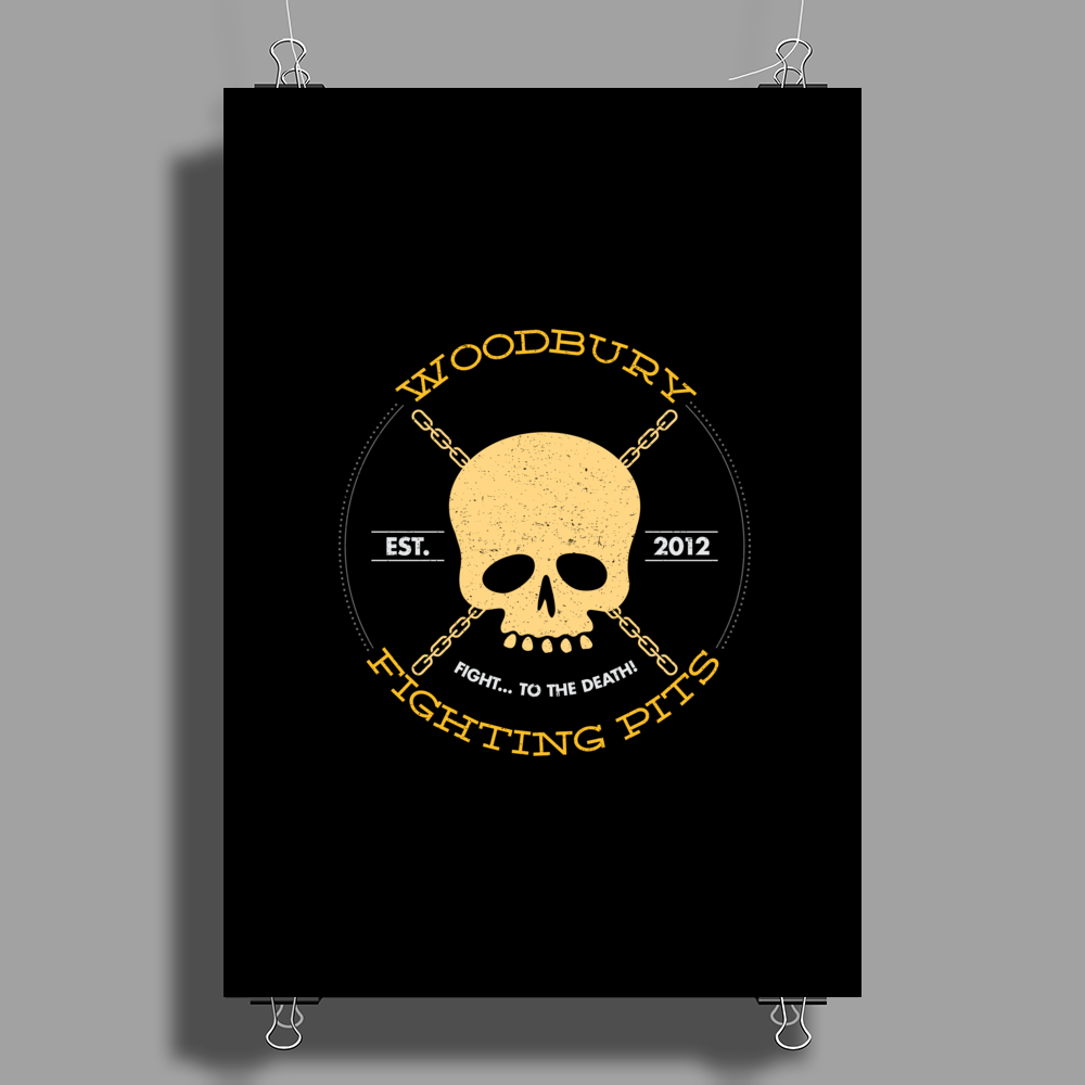 Woodbury Fighting Pits Poster Print (Portrait)