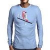 Woodpecker in blue Mens Long Sleeve T-Shirt