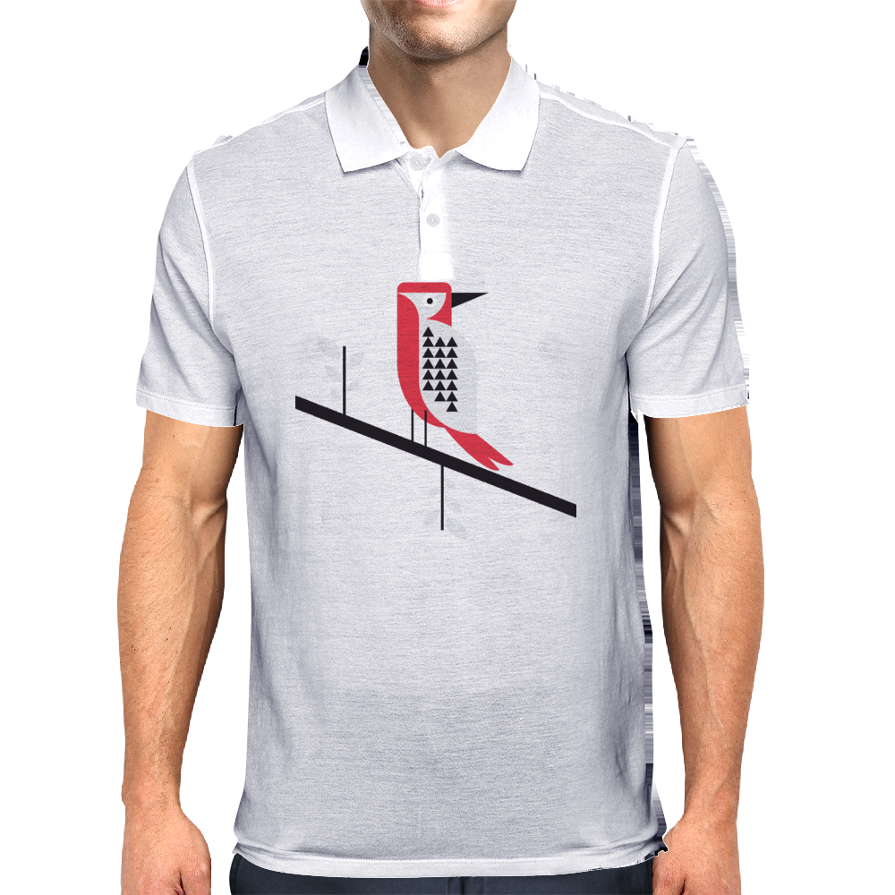 Woodpecker in blue Mens Polo
