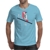 Woodpecker in blue Mens T-Shirt