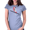 Woodpecker in blue Womens Fitted T-Shirt