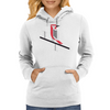 Woodpecker in blue Womens Hoodie
