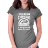 Woodworking Is Importanter - Funny Womens Fitted T-Shirt