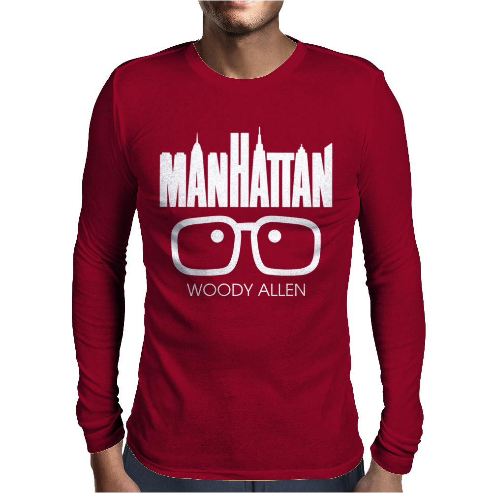 Woody Allen Manhattan Moovie Vintage Mens Long Sleeve T-Shirt