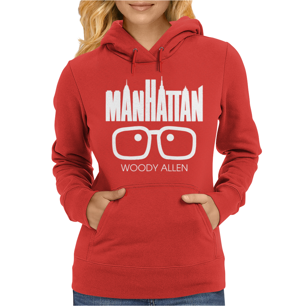 Woody Allen Manhattan Moovie Vintage Womens Hoodie