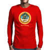 Woody Gone Surfing California Mens Long Sleeve T-Shirt